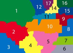 Colorado School District and FFA map